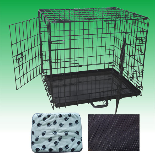 pet dog cage with blanket