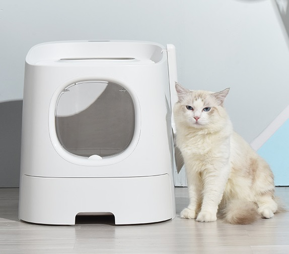 Homerun Top/Front Entry Cat Toilet Litter box For Cat With Odor Control Easy Cleaning