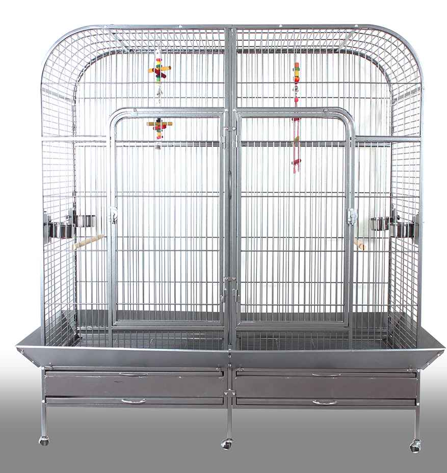Large Metal Mesh Parrot cages with Wheels DLBR(B)2023