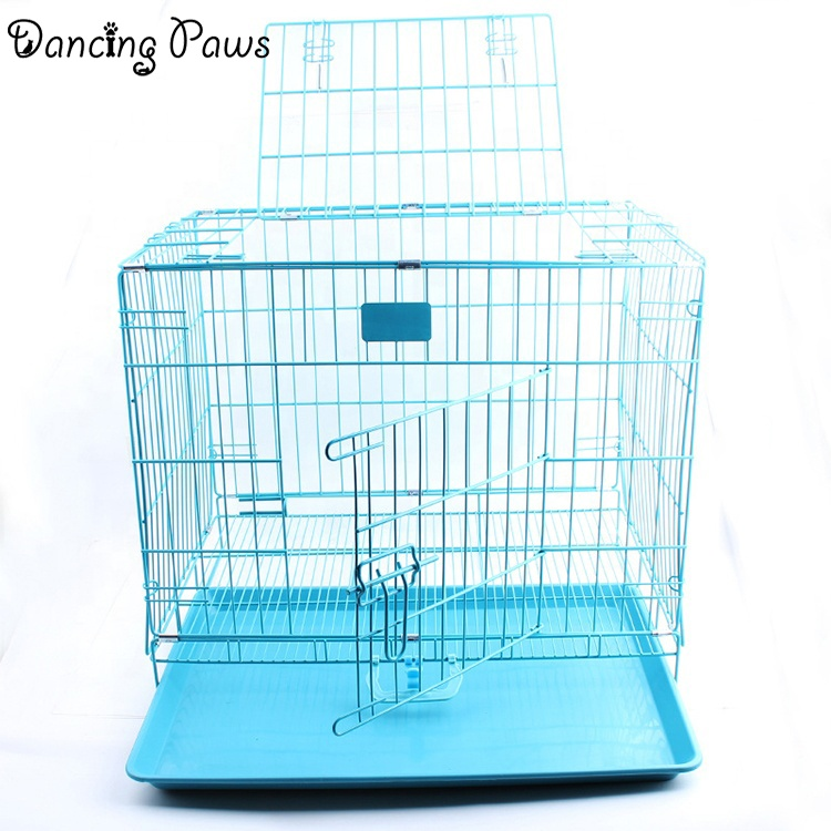 China pet products manufacturer bold folding dog iron wire cage dog kennel size L 90*56*63