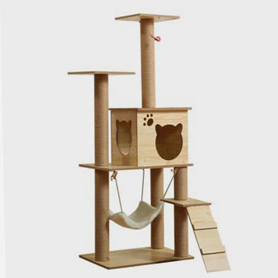 Wholesale Pet Products  Wooden Cat Tree Toy Cat Jumping Platform Cat scratchers
