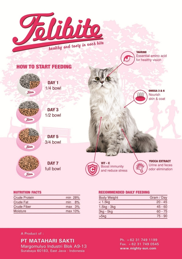 Felibite Dry Cat Food, Pet animal Food