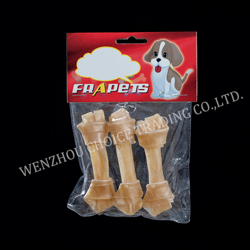 natural rawhide knot bone 4-4.5inch