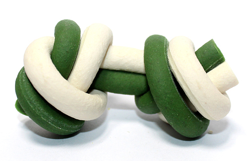 Dual-Colored Flavored Knotted Bone for Dogs