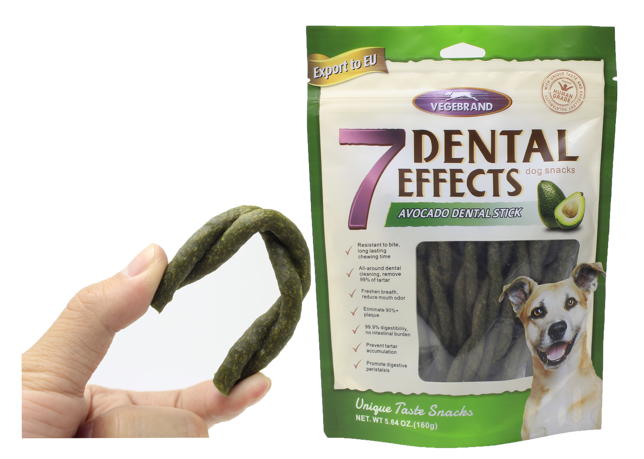 Avocado Flavor Twist Dog Chews