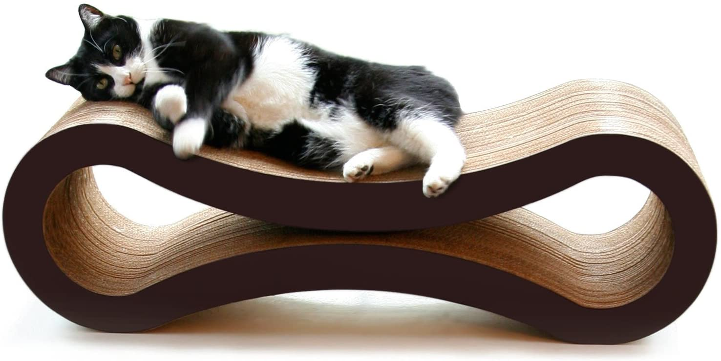Luxury Cat Scratcher Lounge with Catnip