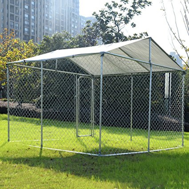 Large outdoor chain link dog run dog kennel dog cage