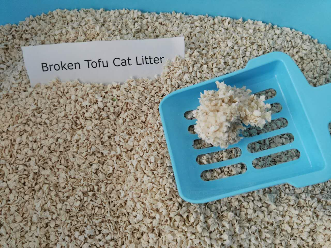 Superior absorption broken tofu cat litter