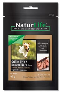 NaturLife Dog Snacks - Grilled Fish & Roasted Duck Flavour ( Joint & Mobility formula)