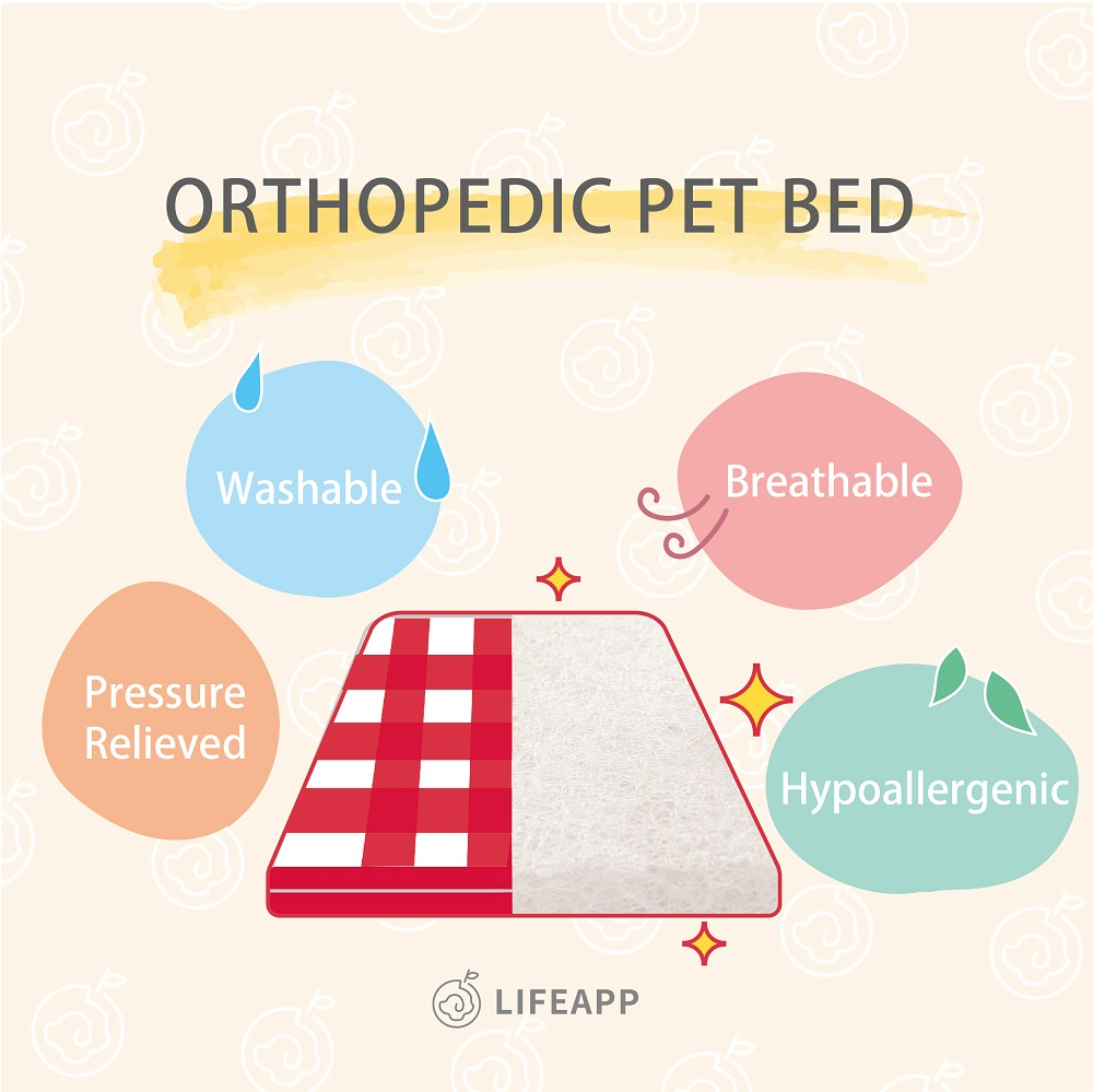 LIFEAPP Orthopedic Pet Bed
