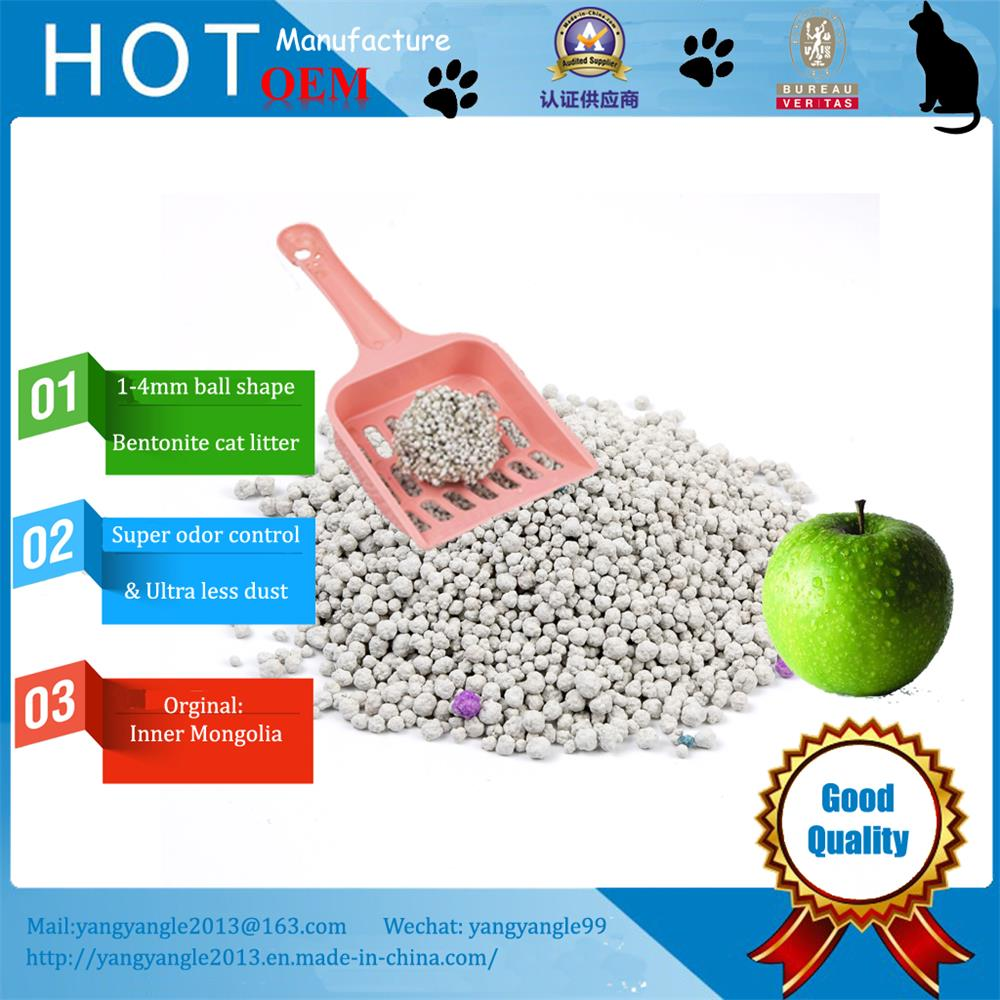 Ultra less dust and strong odor control bentonite cat litter